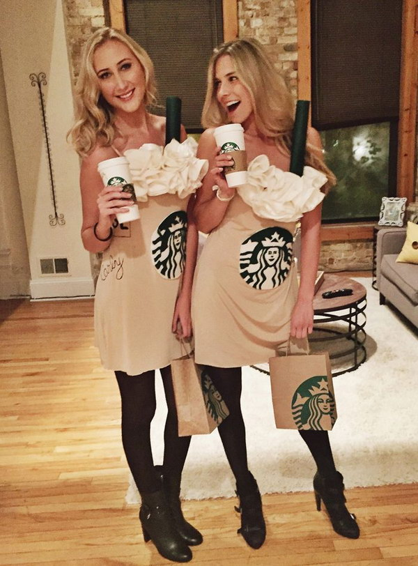 DIY Starbucks Halloween Costume