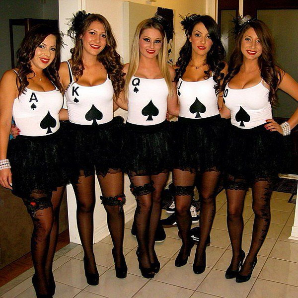 DIY Royalflush Pokerhand Cards Costumes