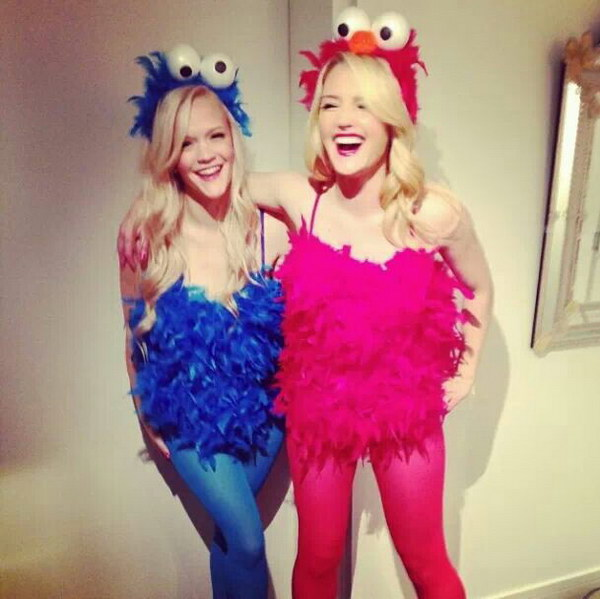 Cookie Monster & Elmo Costumes