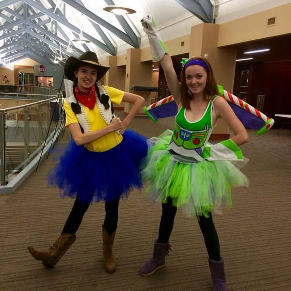 Woody and Buzz Lightyear Halloween Costumes  sc 1 st  Styletic & 35 Girlfriend Group Halloween Costume Ideas