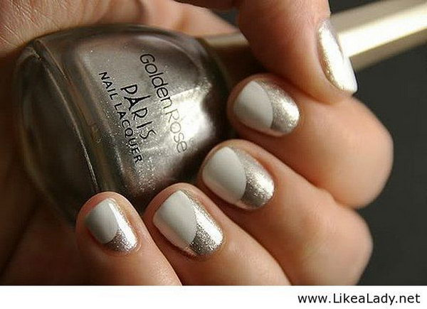 60 Stunning Half Moon Nail Art Designs Tutorials