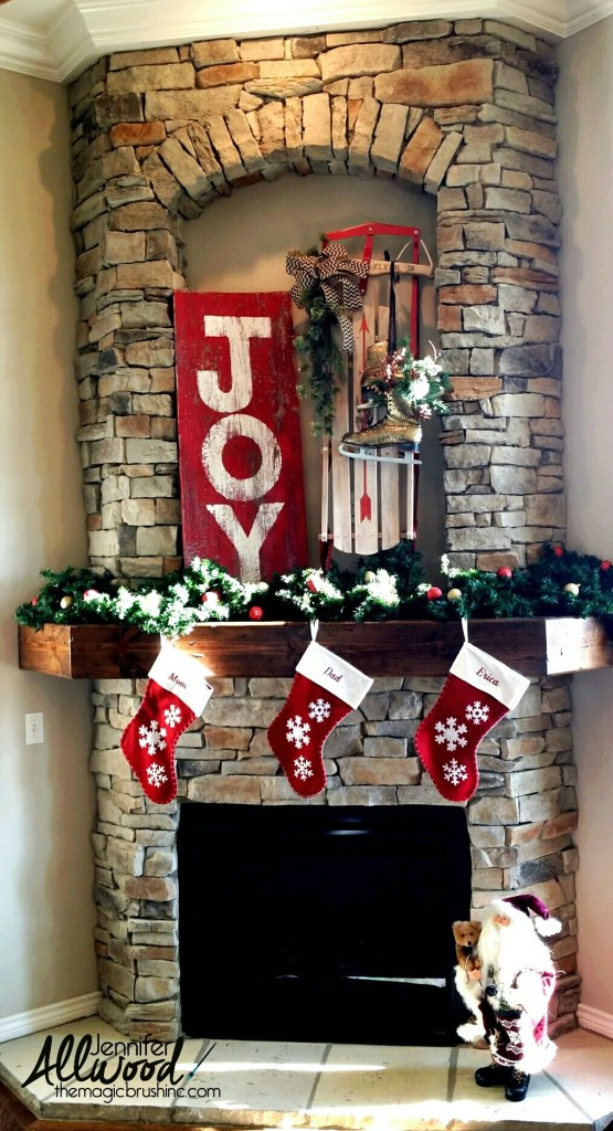 Easy JOY Barnwood Sign.