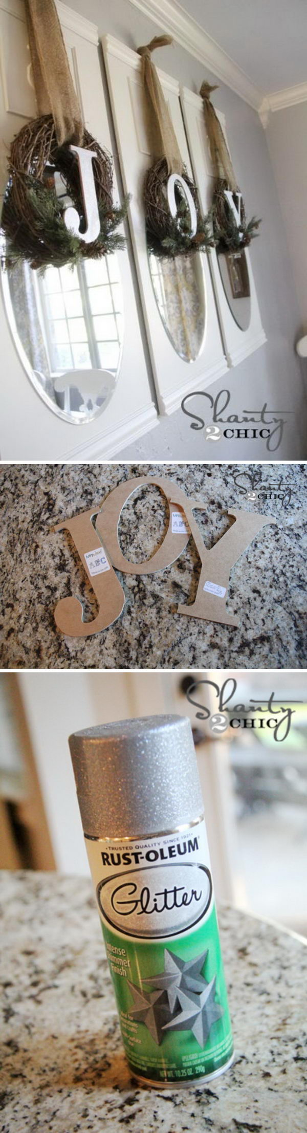 DIY JOY Wreath.