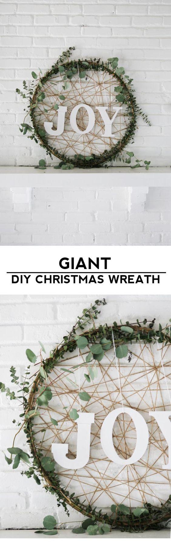 Giant DIY Christmas Wreath.