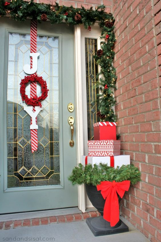 Joy Wreath on the Door.