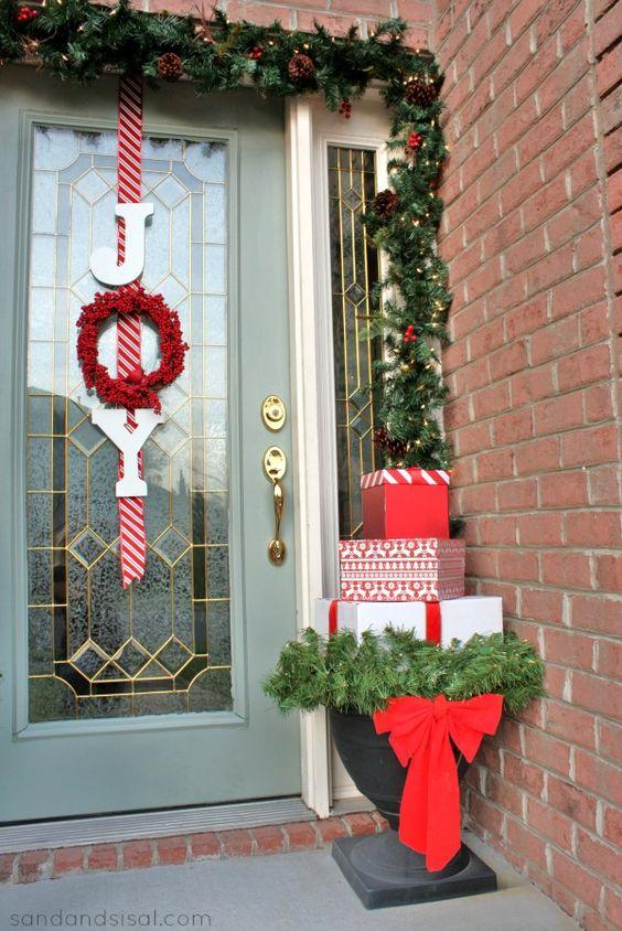 Joy Wreath on the Door.