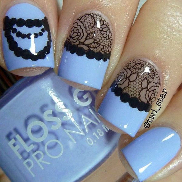 Vintage Blace Lace Nails.