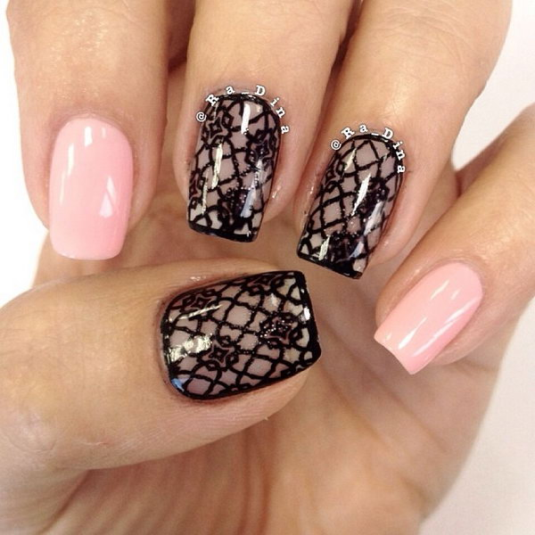 60 Lace Nail Art Designs & Tutorials For You To Get The Fashionable Look