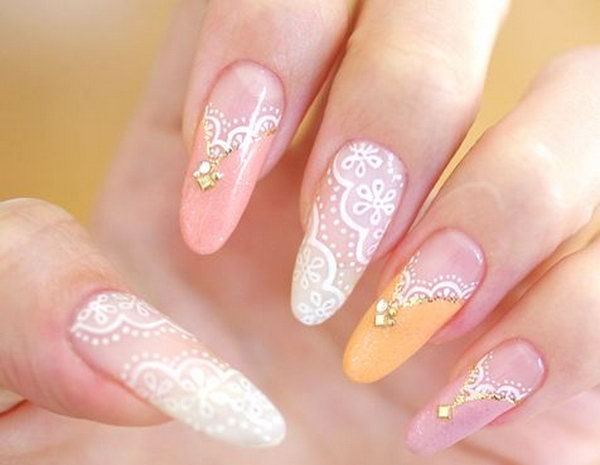 Pretty Lace Nail Art Designs.