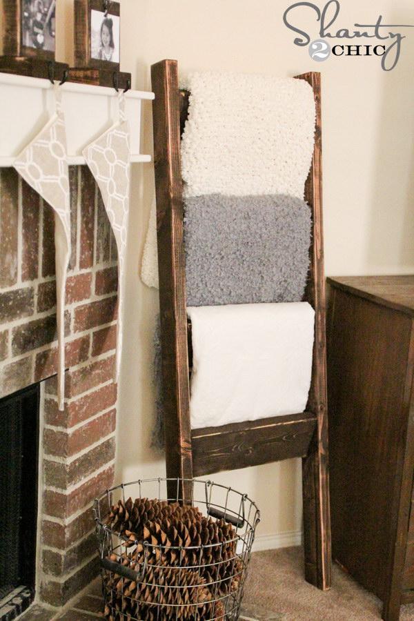 $10 Wooden Blanket Ladder.