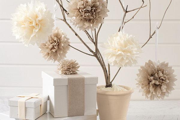 Tissue Paper Pom Poms.