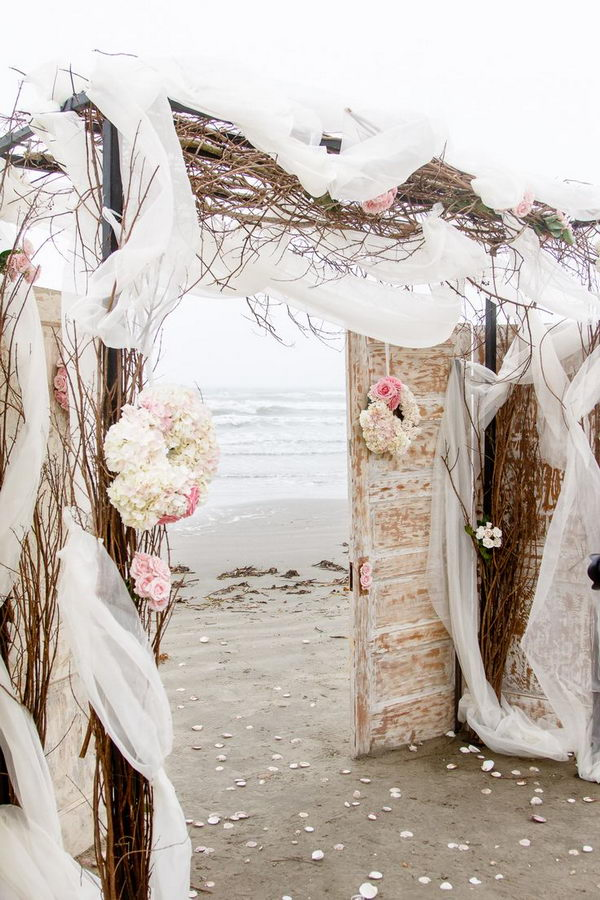 Romantic Beach Wedding Arch.