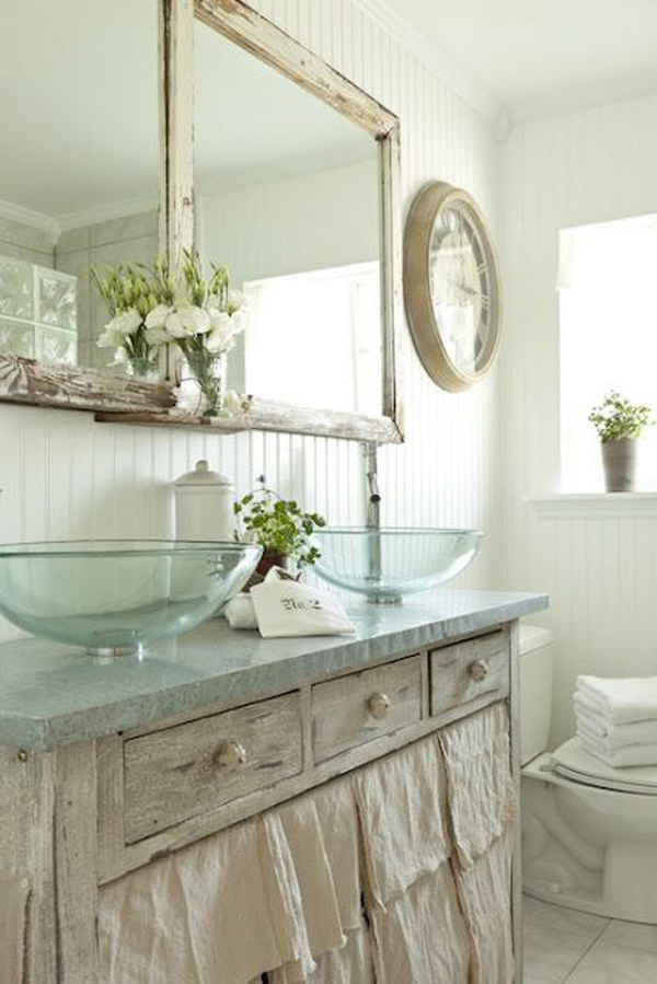 50 amazing shabby chic bathroom ideas for Shabby bathroom ideas