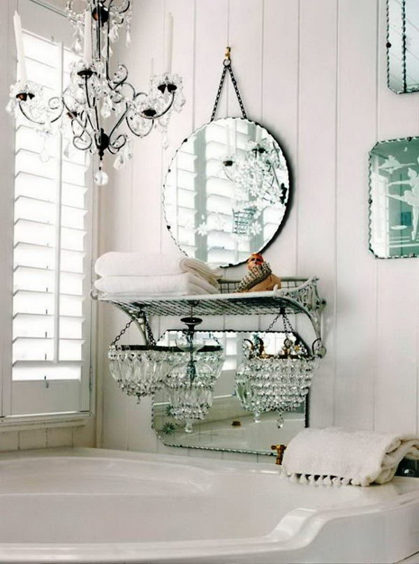 Vintage Chic White Bathroom Decor