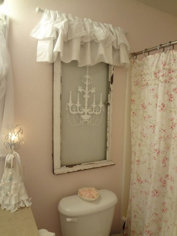 50 amazing shabby chic bathroom ideas for Commode style shabby chic