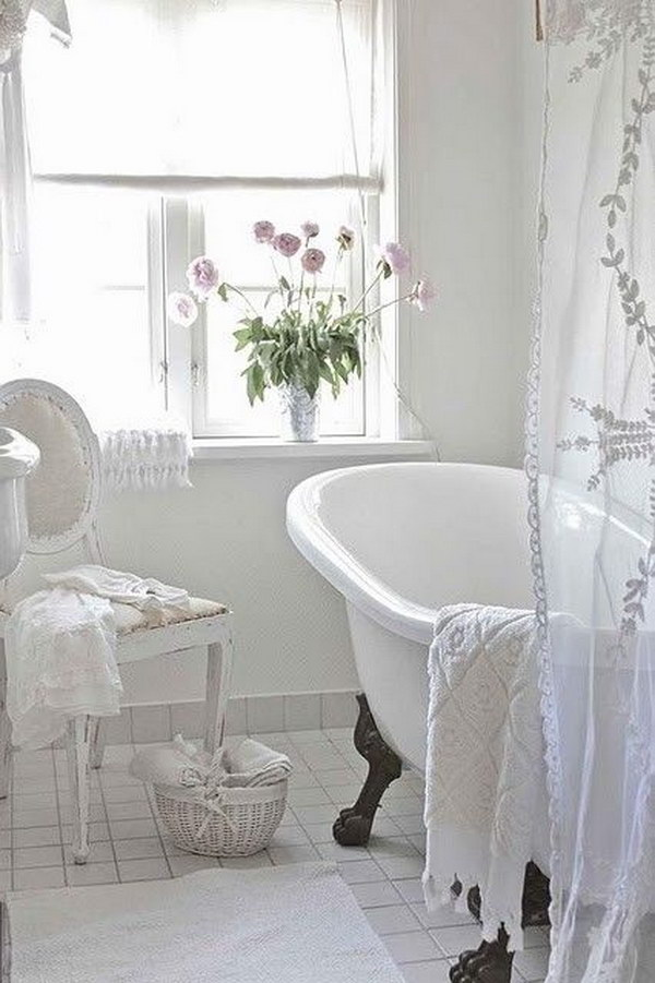 Romantic Shabby Chic Bathroom