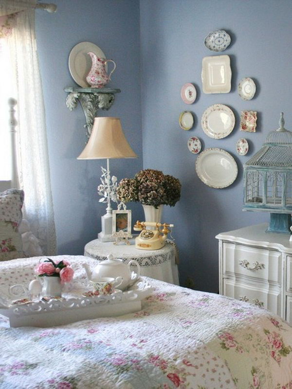 30 shabby chic bedroom ideas decor and furniture for for Shabby chic wall art