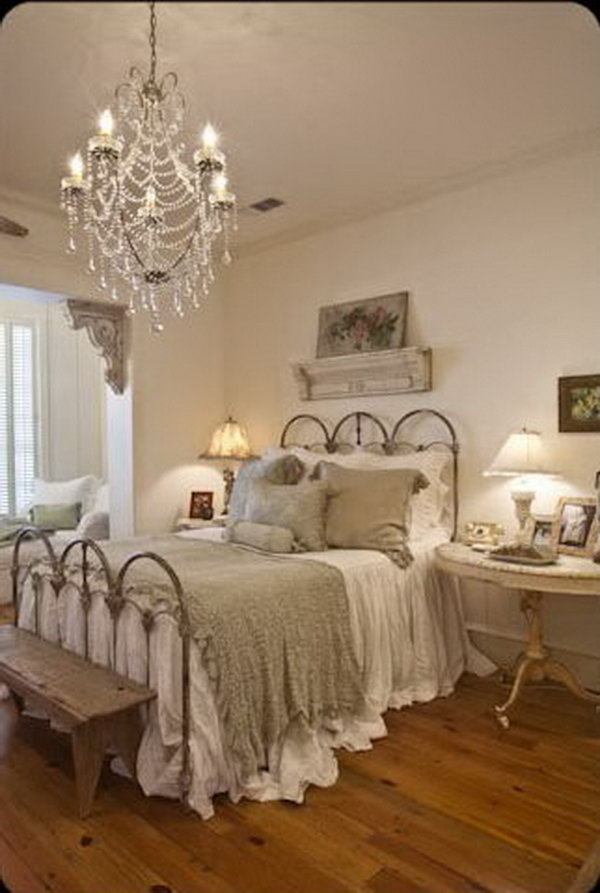 Vintage Shabby Chic Bedroom Furniture Layout
