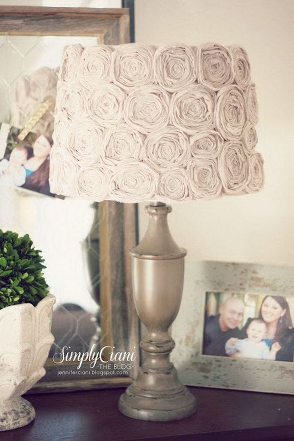 DIY Shabby Chic Lamp.