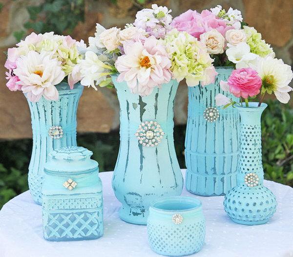 Shabby Chic Vase.