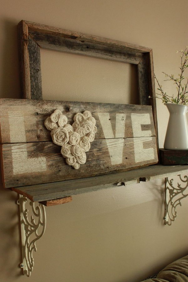20 diy shabby chic decor ideas for your home for Deco murale shabby chic