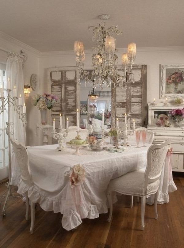 Romantic Cozy Bedroom: Shabby Chic Dining Room Ideas: Awesome Tables, Chairs And