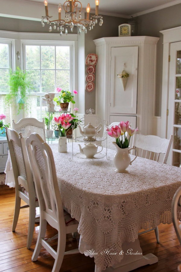 28 Simple Dining Room Ideas For A Stunning Inspiration: Shabby Chic Dining Room Ideas: Awesome Tables, Chairs And