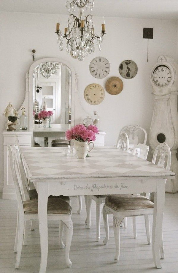 Wonderful Shabby Chic Style Dining Room With Unique Decors