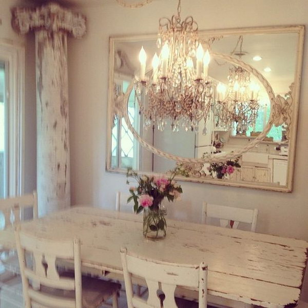 Shabby Chic Kitchen Table Centerpieces: Shabby Chic Dining Room Ideas: Awesome Tables, Chairs And