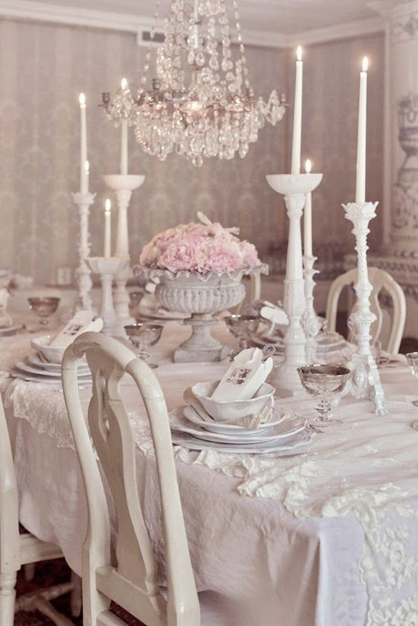 Romantic Dining Room: Shabby Chic Dining Room Ideas: Awesome Tables, Chairs And
