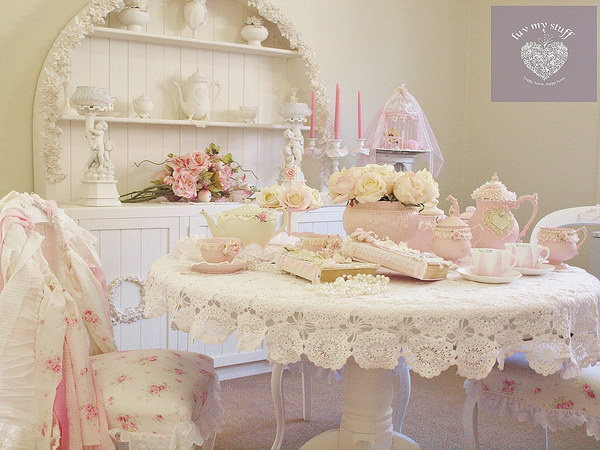 Girly And Shabby Chic Dining Room Decorations