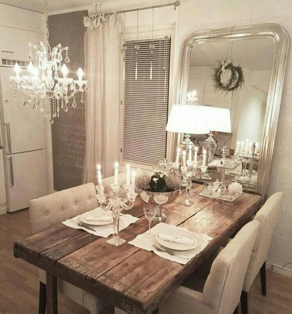 Inspiring Sitting Room Decor Ideas For Inviting And Cozy: Shabby Chic Dining Room Ideas: Awesome Tables, Chairs And
