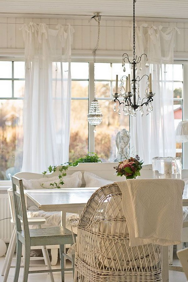 shabby chic dining room ideas awesome tables chairs and chandeliers for your inspiration. Black Bedroom Furniture Sets. Home Design Ideas