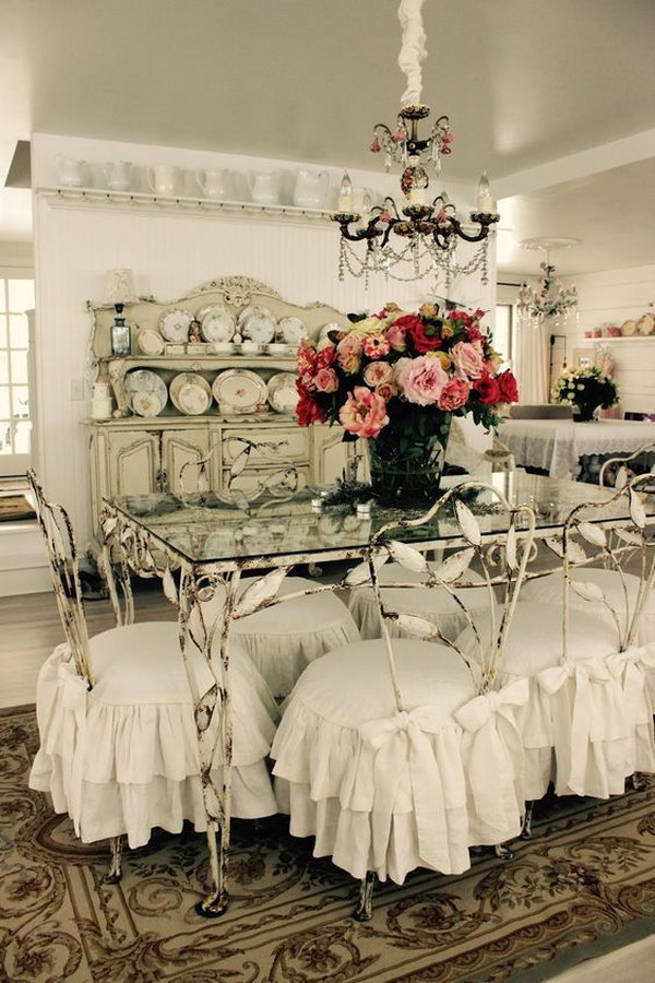 Shabby Chic Dining Room Slipcovers