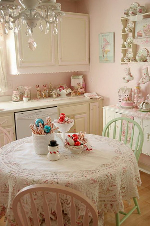 Beautiful Pink Kitchen