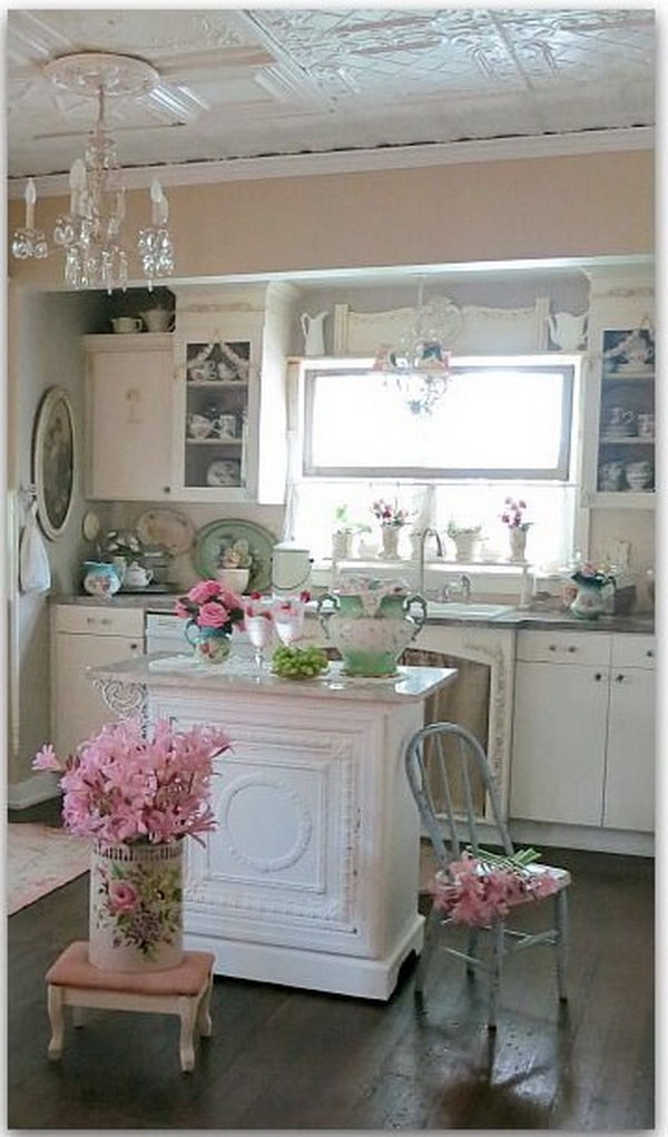 shabby chic kitchen paint colors awesome shabby chic kitchen designs 7908