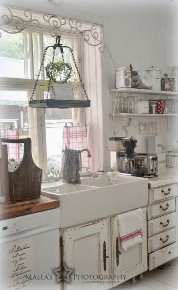 Awesome shabby chic kitchen designs for Shabby kitchen ideas