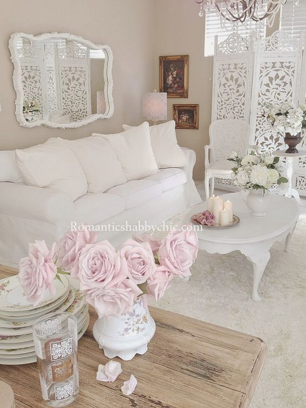 shabby chic living room ideas 50909
