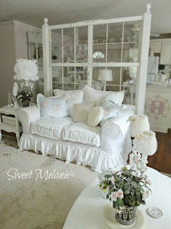 Shabby Chic Wall Decor For Living Room : Romantic shabby chic living room ideas