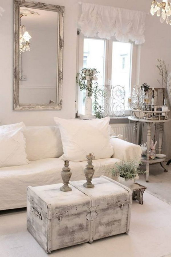 Romantic shabby chic living room ideas - Romantic living room ideas for feminine young ladies casa ...