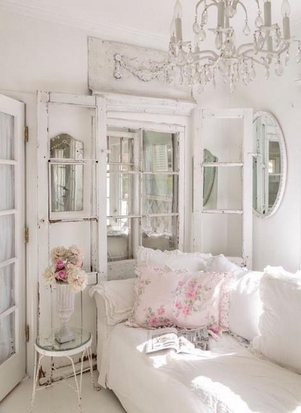 Romantic shabby chic living room ideas for Grey shabby chic living room ideas