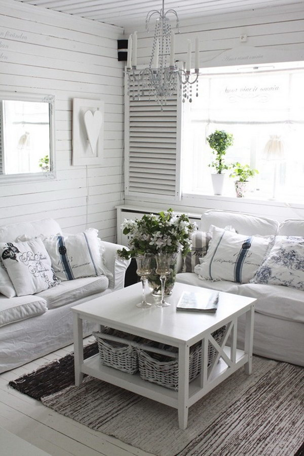 Pretty Shabby Chic Decorating Idea