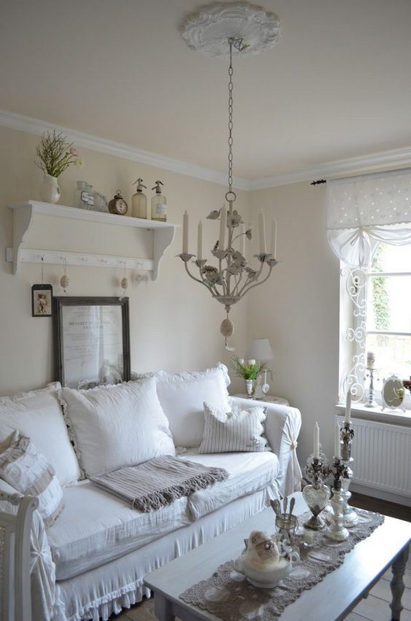 Romantic Room Designs: Romantic Shabby Chic Living Room Ideas