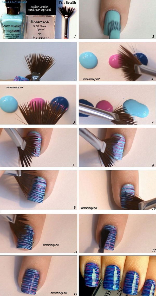 20 easy and fun step by step nail art tutorials marble nail art prinsesfo Image collections