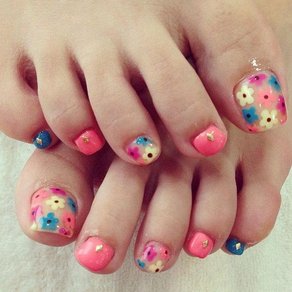 60 Cute Pretty Toe Nail Art Designs