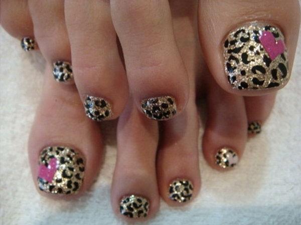 60 cute pretty toe nail art designs leopard print on toes prinsesfo Gallery