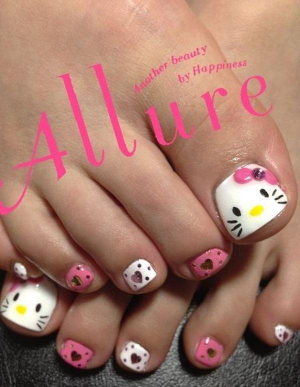60 Cute & Pretty Toe Nail Art Designs
