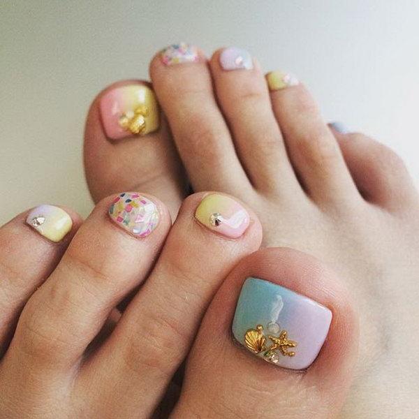Zig Zag Toe Nail Designs