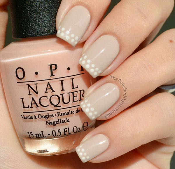 Dotted French Nails. See more