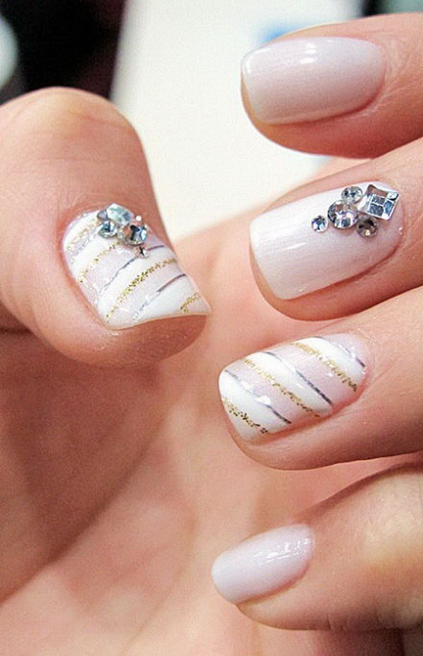 Textured Crystal Nail.